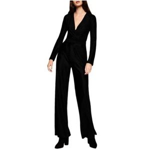 NWT black BCBGeneration ribbed velvet jumpsuit